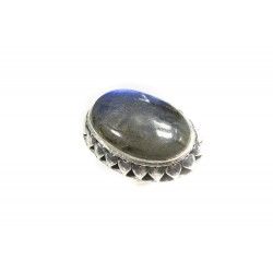 Bague argent 925 big daddy labradorite ovale 25x40 mm taille 56