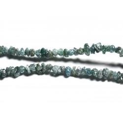 Fil 275pc env - Perles de Pierre précieuse - Diamant Bleu Brut 1-2mm
