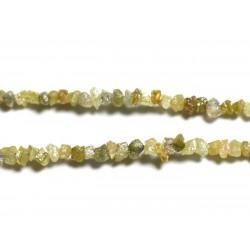 Fil 275pc env - Perles de Pierre précieuse - Diamant Jaune Brut 1-2mm