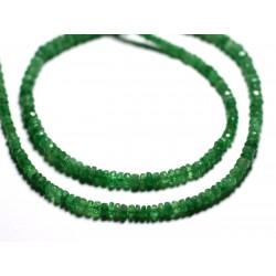 Fil 210pc env - Perles de Pierre - Grenat Tsavorite Rondelles facettées 3x2mm