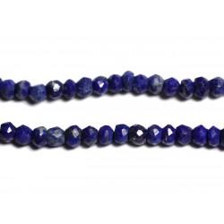 Fil 115pc env - Perles de Pierre - Lapis Lazuli Rondelles facettées 3x2mm