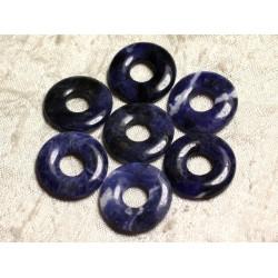 Donut sodalite argentée 20 mm
