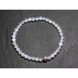 Bracelet Elastique enfant Pierre Agate Blanche 4mm
