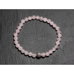 Bracelet Elastique enfant Pierre Quartz Rose 4mm