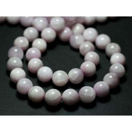2pc - Perles de Pierre - Kunzite rose Boules 10mm - 8741140022263