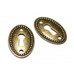 2pc - Connecteurs Perles Pendentifs Boucles d'oreilles Métal Bronze Clef Serrure 37mm - 8741140021136