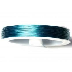 Bobine 100 mètres - Fil Métal Cablé 0.45mm Bleu vert Paon Canard - 8741140020894