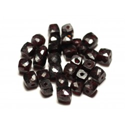 1pc - Perle de Pierre - Grenat Cube Facetté 5-7mm - 8741140020146