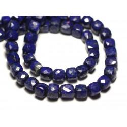 1pc - Perle de Pierre - Lapis Lazuli Cube Facetté 5-6mm - 8741140020184