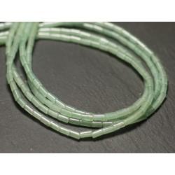 20pc - Perles de Pierre - Aventurine verte Tubes 4x2mm - 8741140019812