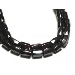 10pc - Perles de Pierre - Hématite Magnétique Tubes Facettés 8x5mm - 8741140019829