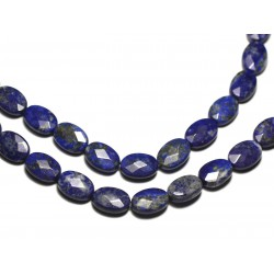 2pc - Perles de Pierre - Lapis Lazuli Ovales Facettés 14x10mm - 8741140019584