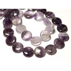 2pc - Perles de Pierre - Améthyste Palets 16mm - 8741140019683