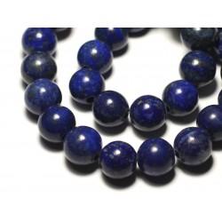 1pc - Perle de Pierre - Lapis Lazuli Boule 14mm gros trou 3mm - 8741140019447