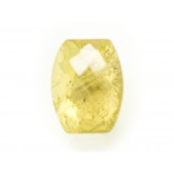 N16 - Cabochon Pierre - Topaze Jaune Facettée Rectangle 13x10mm - 8741140019102