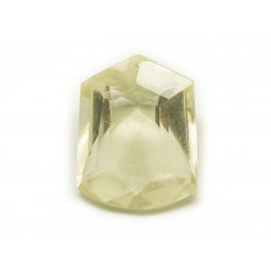 N18 - Cabochon Pierre - Topaze Jaune Facettée Rectangle 20x16mm - 8741140019133