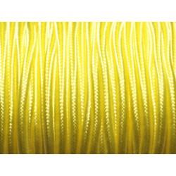 5 mètres - Fil Cordon Lanière Tissu Soutache Satin 2.5mm Jaune - 8741140018839