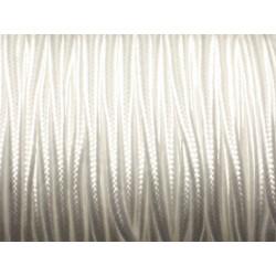 5 mètres - Fil Cordon Lanière Tissu Soutache Satin 2.5mm Blanc - 8741140018938
