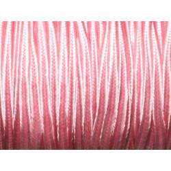 5 mètres - Fil Cordon Lanière Tissu Soutache Satin 2.5mm Rose clair bonbon pastel - 8741140018921