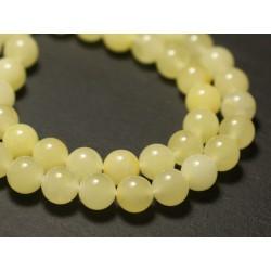 1pc - Perle Ambre naturelle Boule 8mm Jaune clair - 8741140018723