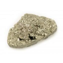 N1 - Cabochon de Pierre - Pyrite dorée brut 31x29mm - 8741140018310
