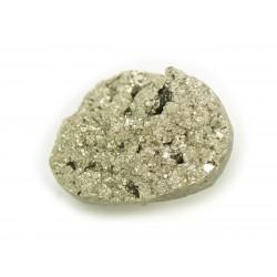 N8 - Cabochon de Pierre - Pyrite dorée brut 25x18mm - 8741140018389