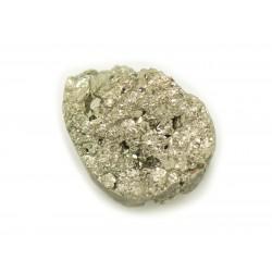 N9 - Cabochon de Pierre - Pyrite dorée brut 23x18mm - 8741140018396