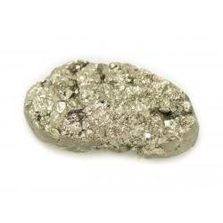 N17 - Cabochon de Pierre - Pyrite dorée brut 28x14mm - 8741140018471