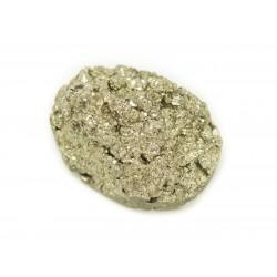 N23 - Cabochon de Pierre - Pyrite dorée brut 23x17mm - 8741140018532