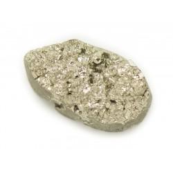 N18 - Cabochon de Pierre - Pyrite dorée brut 24x13mm - 8741140018488