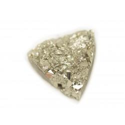 N27 - Cabochon de Pierre - Pyrite dorée brut 19x18mm - 8741140018570