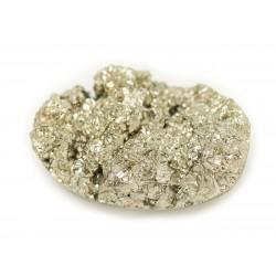 N28 - Cabochon de Pierre - Pyrite dorée brut 25x15mm - 8741140018587