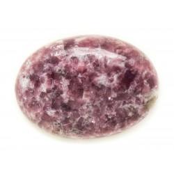 N12 - Cabochon Pierre - Lépidolite violet rose Ovale 34x24mm - 8741140018020