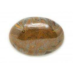 N1 - Cabochon Pierre - Oeil de Fer Tigre Ovale 31x29mm - 8741140018167