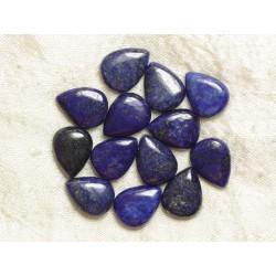 2pc - Perles de Pierre - Lapis Lazuli Gouttes 16x12mm - 8741140017894