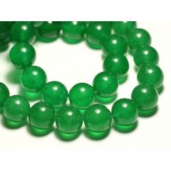 4pc - Perles de Pierre - Jade Boules 14mm Vert Emeraude - 8741140016729
