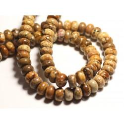 10pc - Perles de Pierre - Jaspe Paysage Beige Rondelles 8x4-5mm - 8741140015760