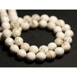 10pc - Perles de Pierre - Magnésite Boules Facettées 8mm - 8741140015807