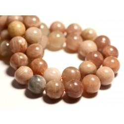 5pc - Perles de Pierre - Pierre de Soleil Boules 10mm - 8741140015937
