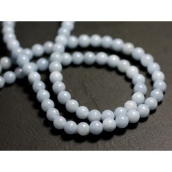 10pc - Perles de Pierre - Angélite Boules 6mm - 8741140015531