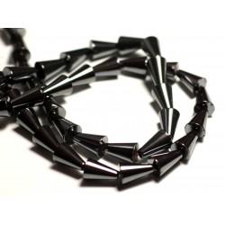 10pc - Perles de Pierre - Hématite Cônes 12x8mm - 8741140015593