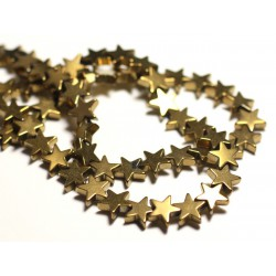 20pc - Perles de Pierre - Hématite dorée Etoiles 8mm - 8741140015616