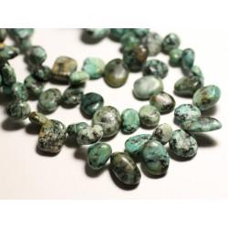 10pc - Perles de Pierre - Turquoise Afrique Chips Rocailles 8-15mm - 8741140016354
