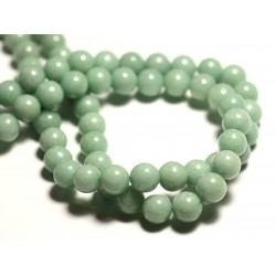 10pc - Perles de Pierre - Jade Boules 8mm Vert clair Amande Pastel - 8741140016101
