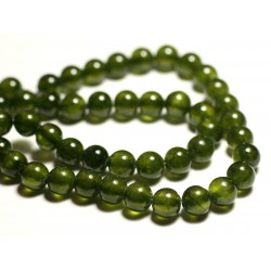 10pc - Perles de Pierre - Jade Boules 8mm Vert Olive Kaki - 8741140016170