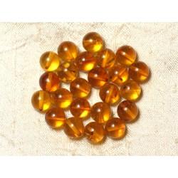 1pc - Perles Ambre naturelle jaune orange Boule 10mm - 8741140015500