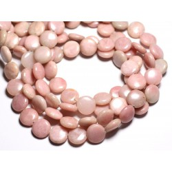 4pc - Perles de Pierre - Opale Rose Palets 14mm - 4558550084606