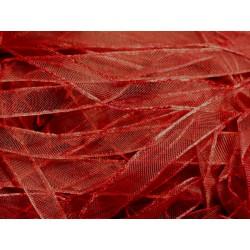 Echeveau 90 mètres - Ruban Tissu Organza Rouge Bordeaux 10mm - 4558550007513