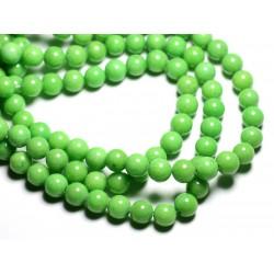 10pc - Perles de Pierre - Jade Boules 8mm Vert Pomme - 4558550081681
