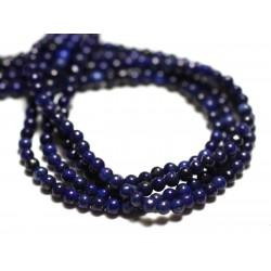 30pc - Perles de Pierre - Lapis Lazuli Boules 2mm - 8741140014435